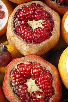 Pomegranate, Fruit, Macro, Fruits, Diet, Fresh, Food
