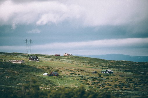 Nature, Landscape, Household, House, Clouds, Sky, Green