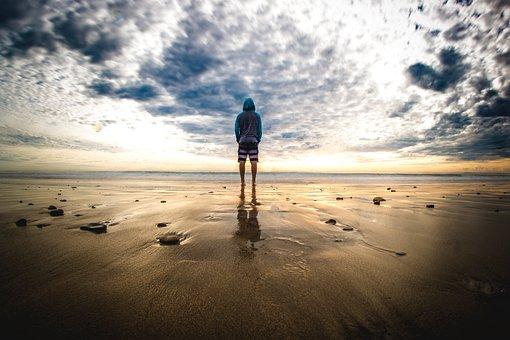 People, Man, Travel, Adventure, Beach, Ocean, Sea, Sand