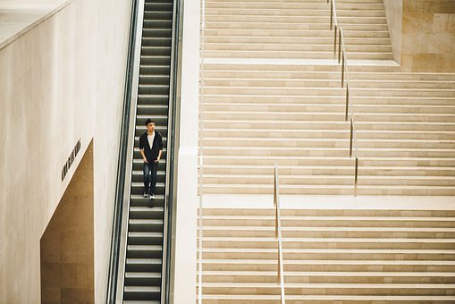 People, Man, Teen, Fashion, Stairs, Alone, Architecture