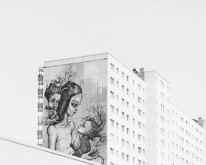 Paint, Art, Graffiti, Parent, Mother, Kid, Children