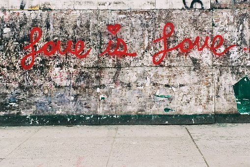 Love, Vandal, Graffiti, Wall, Street, Art, Red