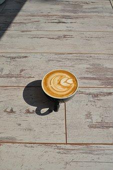 Coffee, Bean, Seed, Brown, Cafe, Wood, Hot, Mug, Cup