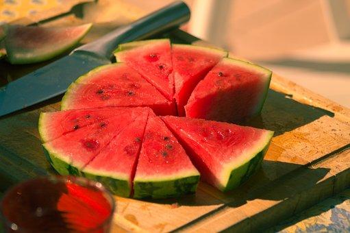 Summer, Red, Green, Fruit, Watermelon
