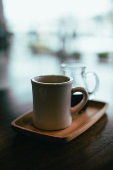 Cup, Mug, Coffee, Tea, Plate, Wood, Restaurant, Cafe