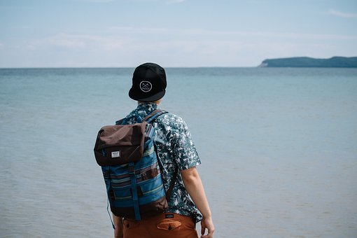 People, Man, Alone, Travel, Adventure, Cap, Ocean, Sea