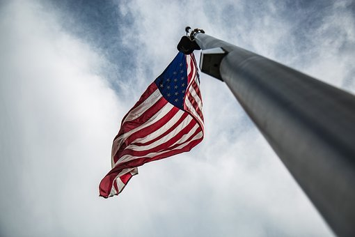 Flag, United States, Us, Clouds, Sky, Freedom