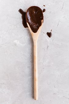 Chocolate, Dip, White, Laddle, Spoon