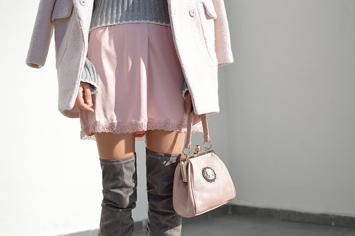 People, Woman, Fashion, Winter, Collection, Pink, Skirt