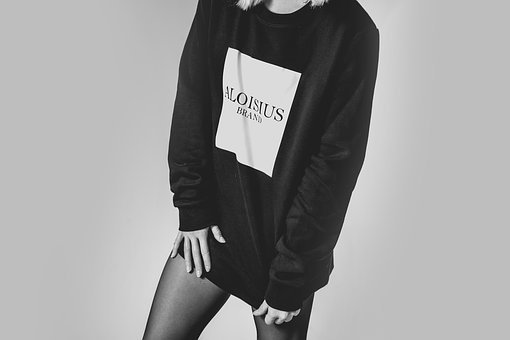 People, Woman, Black And White, Monochrome, Sweatshirt