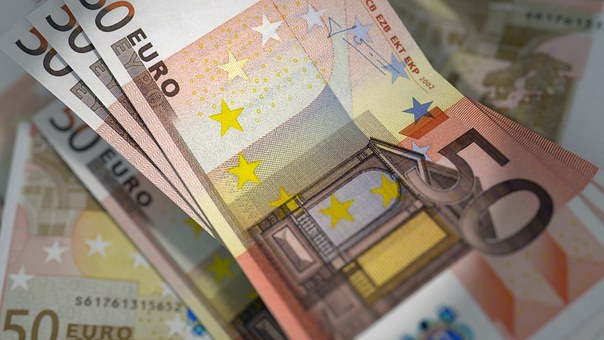 Euro, Banknotes, Currency, Bill, Cash, 50 Euro Notes