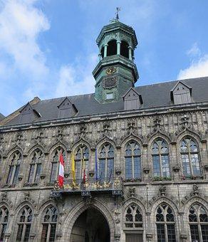 Belgium, Mons, City hall, Belfry, Architecture