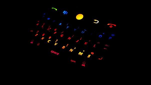 Smartphone, Blackberry, Phone, Keyboard, Colourful, Diy
