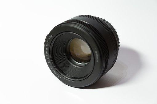 Canon, Lens, Camera, Slr, 50mm, Photograph