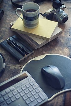 Coffee, Coffee Mug, Pen, Notebook, Office, Work