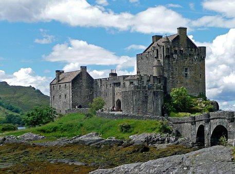 Eilean Donan Castle, Scotland, Masonry, Landscape