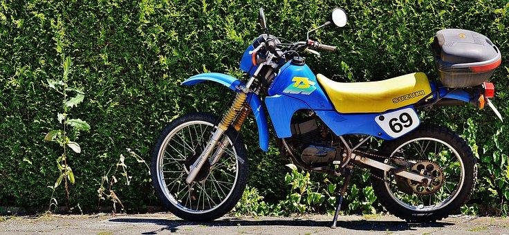 Moped, Enduro, Suzuki, Ts50xk, Motorcycle, Vehicle