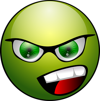 Angry, Face, Emoticon, Animations, Green, Expression