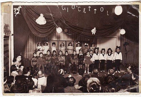 Children, Old Photo, Years, Fifty, Dolls, Retro, 50s