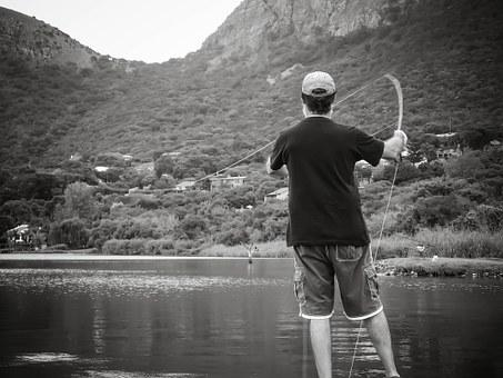 Fly Fishing, Portrait, Man, Fishing, Leisure, Rod