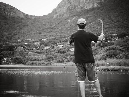 Fly Fishing, Portrait, Man, Fishing, Leisure, Rod