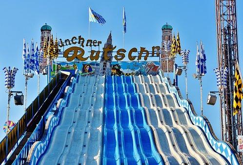 Oktoberfest, Munich Slide, Ride, Carnies, Folk Festival