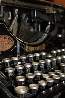 Typewriter, Letter, Font, Old Typewriter, Underwood