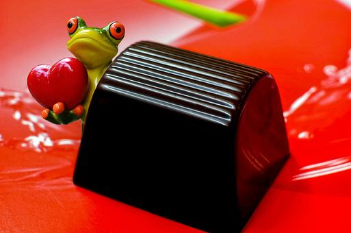 Mon Cherie, Praline, Frog, Love, Heart, Sweet