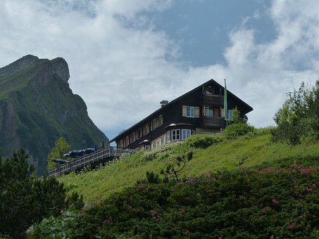 Landsberger Hut, Mountain Hut, Hut, Mountains, Alpine