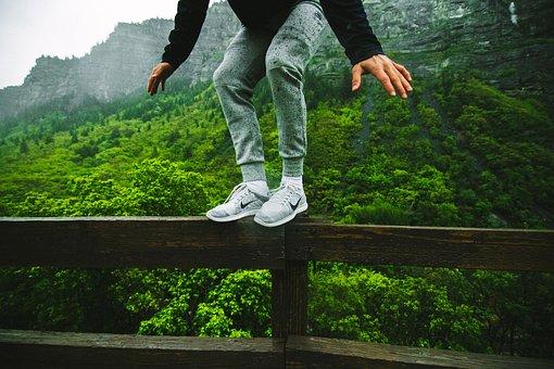 Jump, Leap, Perch, Ledge, Balance, Nike, Just Do It