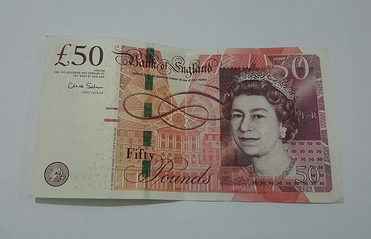 Pounds, Sterling, 50, Currency, British, Money, England