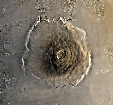 Mars, Planet, Olympus Mons, Volcano, Mountain