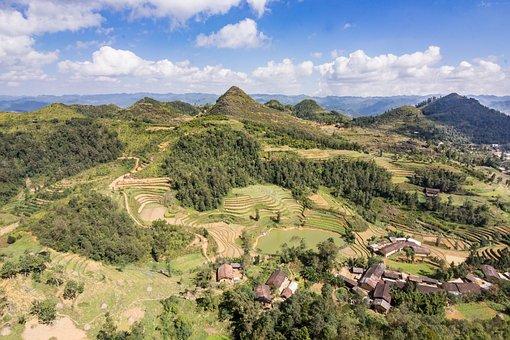 Vietnam, Rice Field, Mountains, Rice Paddies, Paddy