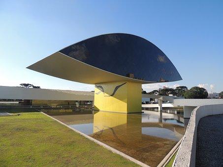 Oscar Niemeyer Museum, Museum, Cities, Curitiba, Mon