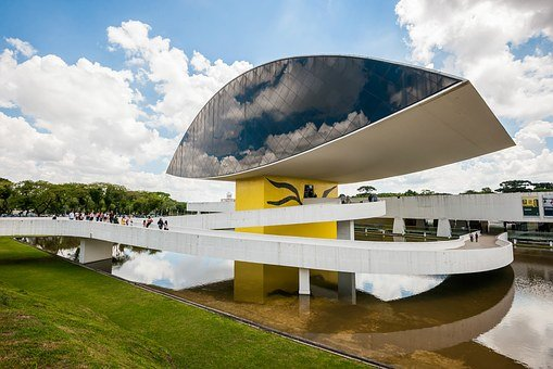 Museum, Curitiba, Eye, Contemporary, Museum Of The Eye