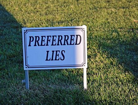 Golf, Sign, Preferred Lies, Symbol, Game, Play