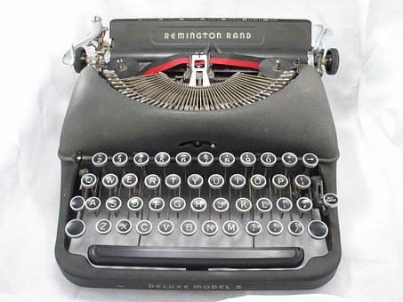 Typewriter, Black, Old, Vintage, Antique, Retro