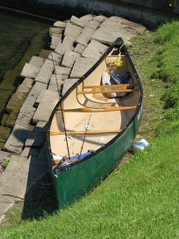 Boat, Fishing, Rods, Shore, River, Prepared, Green
