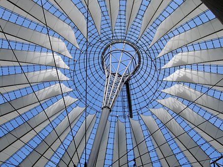Berlin, Germany, Sony Center, Roof, Ornate