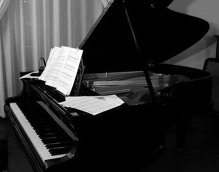 Grand Piano, Plan, Keyboard, Strings, Hammers, Piano