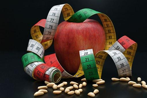 Apple, Tape Measure, Pine Nuts, Remove, Fruit, Diet