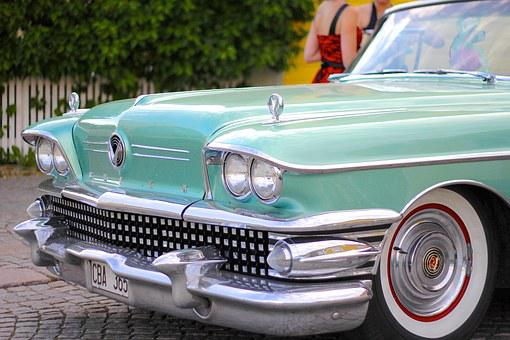 Car, American, 50s, 60s, Vehicle, Auto, Automobile
