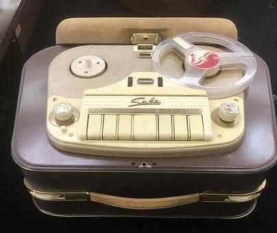 Tape Recorder, Saba, Nostalgia, Vintage, 50s