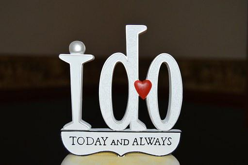 I Do, Today And Always, Wedding, Cake Topper