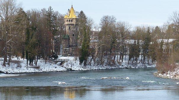 Bavaria, Landsberg, Lech, Water, Weir, Primeval Force