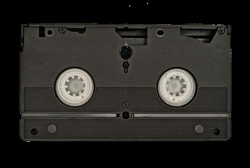 Vhs, Tape, Back, Old, Information, White, Background