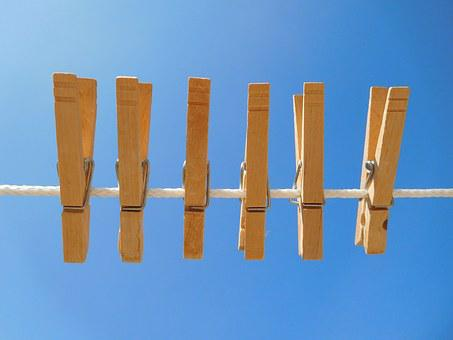 Clothespin, Wooden Clothespins, Clothesline