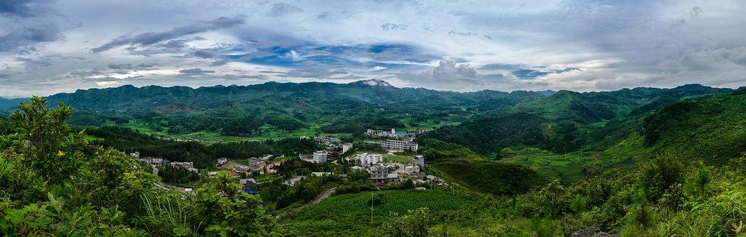 China, Guizhou, 晴隆县 Purple Horse Township, Zhao Jia Wan