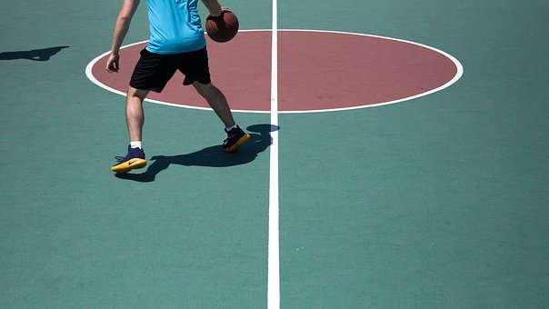 Basketball, Ball, Spalding, Court, Sports, Exercise