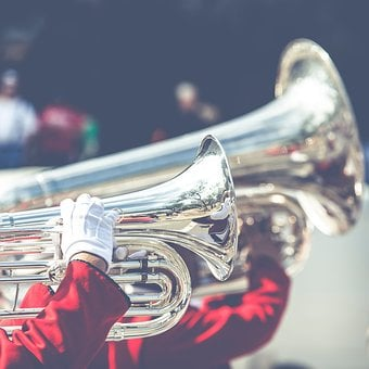 Music, Band, Parade, Trumpet, Gloves, People, Man